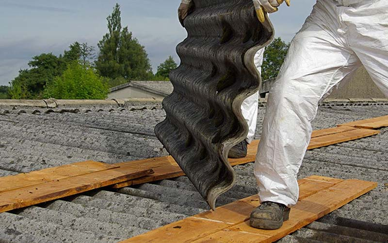 photo of an asbestos job in progress