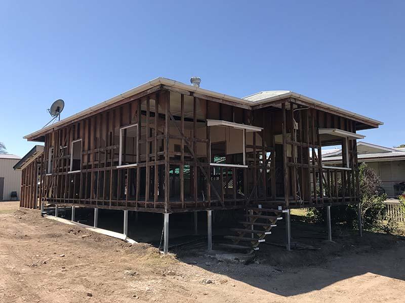 House asbestos removal in progress
