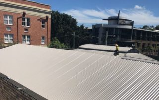 outdoor photo of asbestos roof replacement
